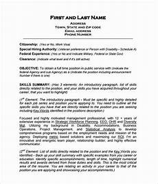 resume in paragraph form elegant federal resume template 8 free word excel pdf format in 2020