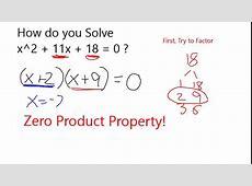 how to factor quadratic equations