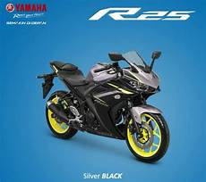Modifikasi R25 2018 by 4 Pilihan Warna Yamaha Yzf R25 2018 Ada Silver Black Velg