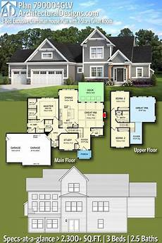 2 story craftsman house plans plan 790004glv exclusive craftsman house plan with 2