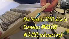 how to install gotek drive in commodore amiga 600 youtube