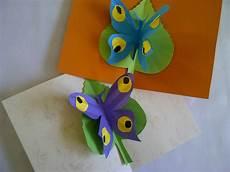 Basteln Lernen Schmetterling Pop Up Karte Bastelidee Zum
