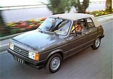 talbot samba cabriolet 1982 1986 l automobile ancienne
