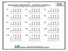 worksheets on 4 digit addition 9173 column addition 4 digits sheet 1 worksheet for 3rd 5th grade lesson planet