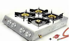 ngb 400 edelstahl gaskocher 4 flammig cingkocher 12kw