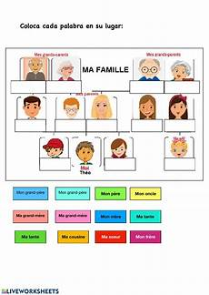 ma famille interactive worksheet
