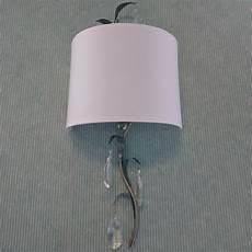 half shades for wall lights uk 1 lt floral half shade wall light w glass pendants in grey clearance litecraft ebay