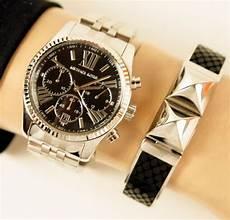 michael kors damen silber bradshaw chronograph armband