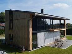 Holzhaus Mit Pultdach Feldkirchen W Lebensraum Holz