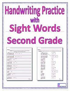 handwriting worksheets 2nd grade 21395 handwriting practice with second grade sight words by vicki corich