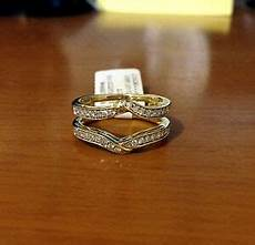 solitaire enhancer diamonds ring guard wrap yellow gold wedding band for ebay