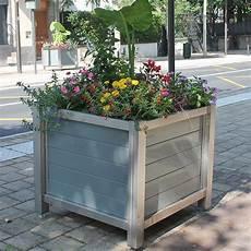 bac à fleurs bac 224 fleur urbain ch 226 ssis inox et parement lames