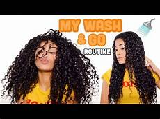 my wash and go routine defined curls natural hair jasmeannnn youtube