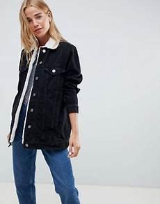 veste en jean mouton femme manteaux vestes femme asos