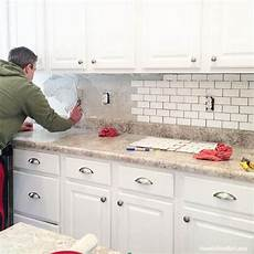 How To Install Subway Tile Backsplash Kitchen How To Install A Kitchen Backsplash The Best And Easiest