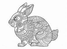 Ausmalbild Hase Mandala Rabbit Zentangle Coloring Page Mandala Coloring Pages