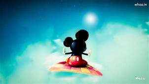 Mickey Mouse Flying On Blanket HD Wallpaper