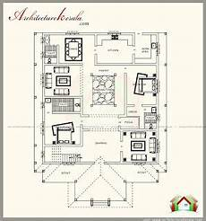 kerala nalukettu house plans traditional kerala style house plan with two elevations