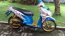 Modifikasi Stiker Motor Vario Techno 125 by Foto Modifikasi Motor Beat Doraemon Modifikasi Motor