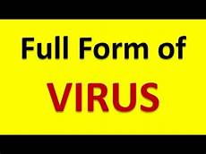 full form of virus youtube