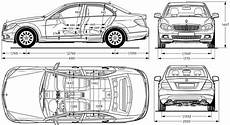 2007 Mercedes C Class W204 Sedan V4 Blueprints Free