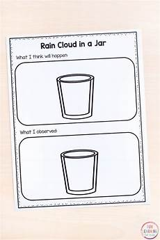 printable science experiments worksheets 12678 cloud in a jar science experiment with printable recording sheets preschool science