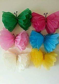 these tissue paper butterflies what a diy