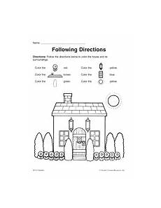 following directions worksheets kindergarten 11712 following directions printable pre k 1st grade teachervision following directions