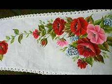 how to paint rose flowers fabric very easy to paint in simple steps for beginners youtube