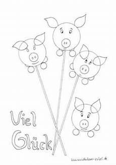 schablonen ausmalen gluecksschwein bilder neujahr