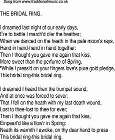 old time song lyrics for 11 the bridal ring