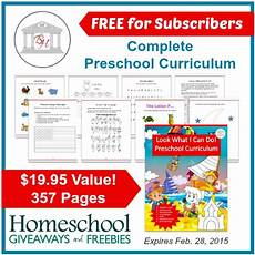 free preschool curriculum subscriber freebie free homeschool deals