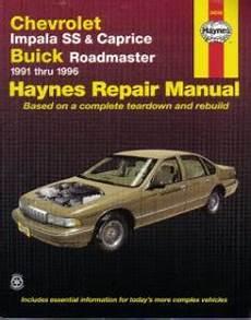 car owners manuals free downloads 1996 chevrolet impala free book repair manuals haynes chevrolet impala ss 7 caprice buick roadmaster 1991 1996 auto repair manual