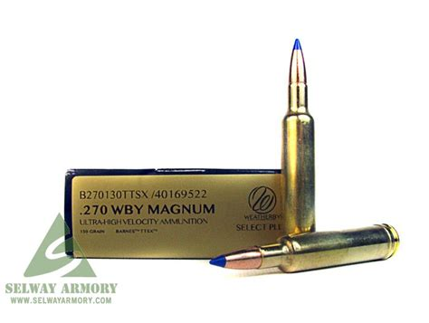 Weatherby .270 Weatherby Magnum 130 Gr. Barnes Tipped