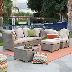 coral coast south isle all weather wicker natural outdoor conversation conversation patio