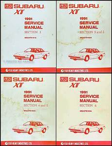 old car owners manuals 1991 subaru xt on board diagnostic system 1991 subaru xt repair shop manual original 6 section 4 book set