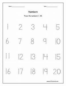 printables traceable numbers worksheets 1 20 trace the
