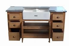evier en bois massif meuble evier de cuisine 2 bacs en bois