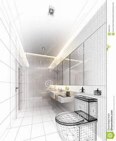 progettazione bagno progettazione di schizzo bagno interno illustrazione