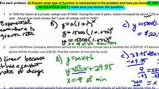 unit 10 lesson 7 linear quadratic and exponential word problems youtube