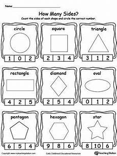 shapes and numbers worksheets for preschoolers 1207 identifying and counting shape sides preschool math preschool worksheets homeschool math