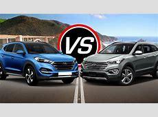 2016 Hyundai Tucson Sport vs Santa Fe Sport   Spec