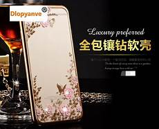 dlopyanve rhinestones soft tpu plating case for vivo x6 x6plus cases silicone case in phone