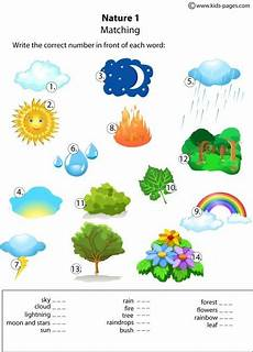 nature worksheet for kindergarten 15159 nature matching 1 worksheets vocabulary