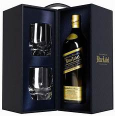 whisky johnnie walker blue label with 2 glasses 0 7 l price reviews