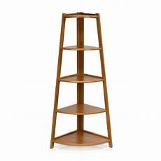 furinno yaotai 5 tier corner ladder shelf new book wood
