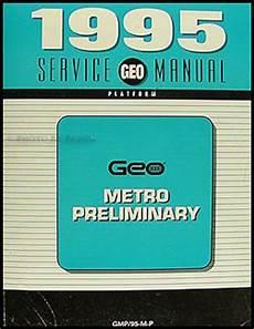 car owners manuals free downloads 1995 geo metro spare parts catalogs 1995 geo metro preliminary repair shop manual original