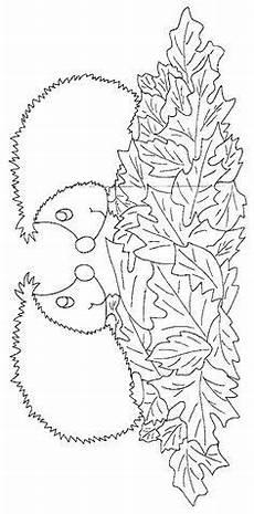 hedgehog coloring pages igel ausmalbild herbst