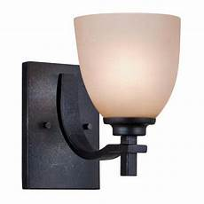 patriot lighting walden 1 light 5 25 quot dark natural iron wall sconce at menards bathroom