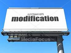 Modification Word word modification on billboard stock photo rs11334411675